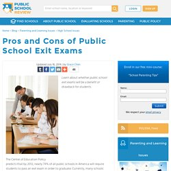 Pros and Cons of Public School Exit Exams