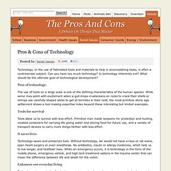 pros and cons of technology pearltrees what are the pros and cons of technology