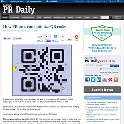 How PR pros can optimize QR codes