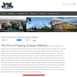The Pros and Cons of Paying College Athletes- college tips