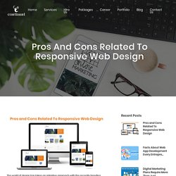 Pros and Cons Related To Responsive Web Design