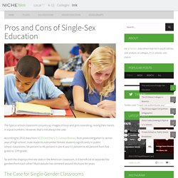 Pros and Cons of Single-Sex Education - Niche Ink