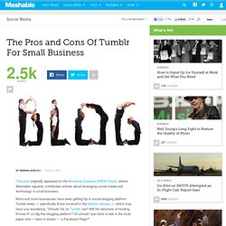 The Pros and Cons Of Tumblr For Small Business