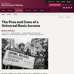 The Pros and Cons of a Universal Basic Income