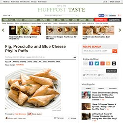 Fig, Prosciutto and Blue Cheese Phyllo Puffs
