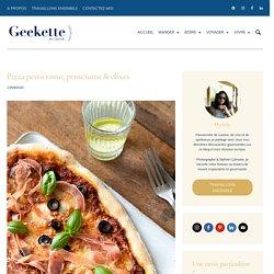 Pizza pesto rosso & prosciutto - recette italienne facile