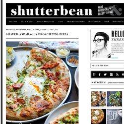 Shaved Asparagus Prosciutto Pizza - Shutterbean