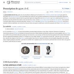Proscription de 43 av. J.-C.