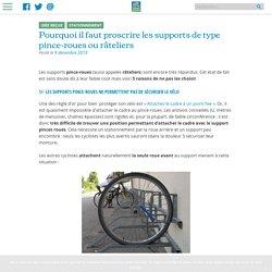 Pourquoi il faut proscrire les supports de type pince-roues ou râteliers - Collectif Cycliste 37