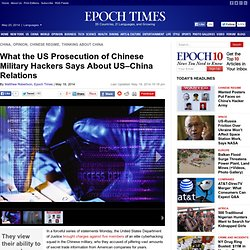 What the US Prosecution of Chinese Military Hackers Says About US–China Relations