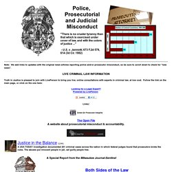 Police and Prosecutorial Misconduct