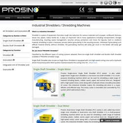 PROSINO Shredder for Sale