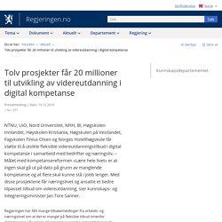 Tolv prosjekter får 20 millioner til utvikling av videreutdanning i digital kompetanse