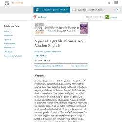 A prosodic profile of American Aviation English