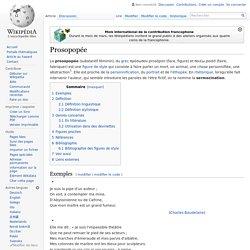 Prosopopée