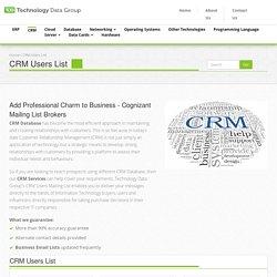 CRM Prospect Lists - Technology Data Group