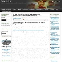 DETECTEUR DE METAUX DETECTION METAUX PROSPECTEURS TRESORS FEDERATION