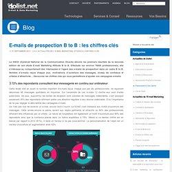 E-mails de prospection B to B : les chiffres clés