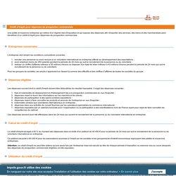 Crédit d'impôt pour dépenses de prospection commerciale