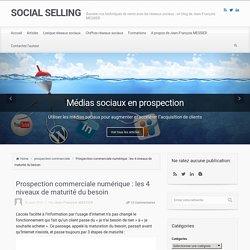 Prospection commerciale numérique : les 4 niveaux de maturité du besoin - SOCIAL SELLING