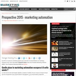 Prospective 2015 : marketing automation