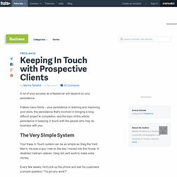 Keeping In Touch with Prospective Clients | FreelanceSwitch