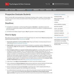 Prospective Graduate Students » Department of Psychological & Brain Sciences