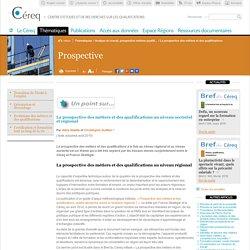 La prospective des métiers et des qualifications / Points sur des grands thèmes de travail du Céreq