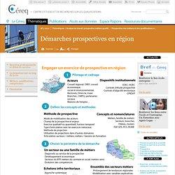 Prospective des métiers et des qualifications en région
