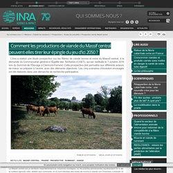 INRA 07/10/16 Comment les productions de viande du Massif central peuvent-elles tirer leur épingle du jeu d'ici 2050 ?
