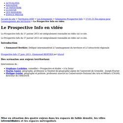 Le Prospective Info en vidéo - Territoires 2040