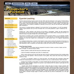 Cyanide Leaching - for recreational gold prospecting