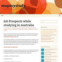 Job Prospects while studying in Australia