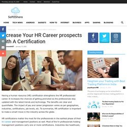 Increase Your HR Career prospects with A Certification