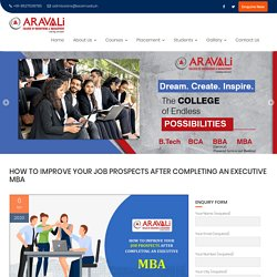 How to Improve Your Job Prospects After Completing an Executive MBA