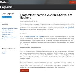 Prospects of learning Spanish in Career and Business by Lingosmio