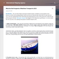 What Are the Prospects of Maritime Transport In 2021