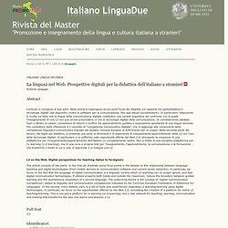 La lingua2 nel Web. Prospettive digitali per la...
