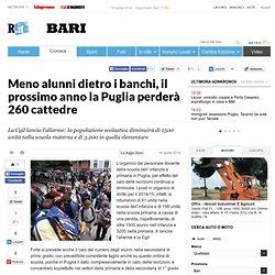 Meno alunni dietro i banchi, il prossimo anno la Puglia perderà 260 cattedre