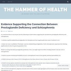 Evidence Supporting the Connection Between Prostaglandin Deficiency and Schizophrenia – The Hammer of Health