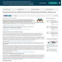 Prosthetic Heart Valve/Artificial Heart Valve Market Worth 8.86 Billion USD by 2022 /PR Newswire India/