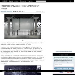 Prosthetic Knowledge Picks: Contemporary Plotter