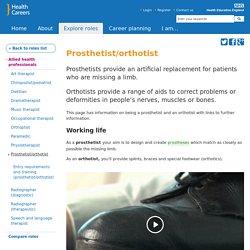 Prosthetist/orthotist