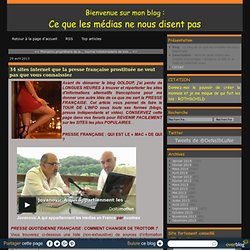 34 sites internet que la presse française prostituée ne veut pas que vous connaissiez