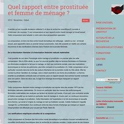 Quel rapport entre prostituée et femme de ménage ?