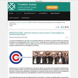 PROSTITUTION : Interdire l'achat du corps d'autrui c'est protéger les droits fondamentaux