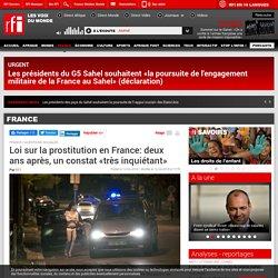 Loi sur la prostitution en France: deux ans après, un constat «très inquiétant»