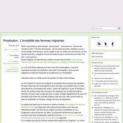Prostitution : L'invisibilité des femmes migrantes