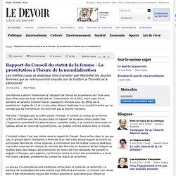 La prostitution à l'heure de la mondialisation - Rapport du Conseil du statut de la femme
