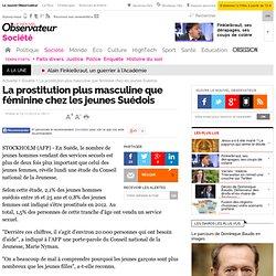 La prostitution plus masculine que féminine chez les jeunes Suédois